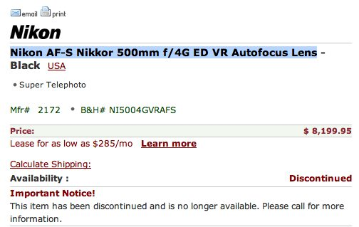 nikon-500mm-lens-discontinued