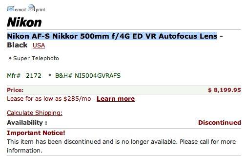 nikon-500mm-lens-discontinued