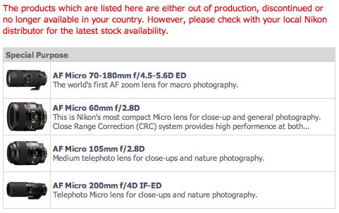 nikon-lens-discontinued