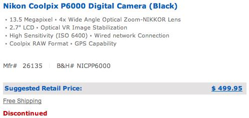 nikon-p6000-discontinued