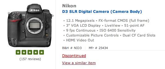 nikon-d3-discontinued