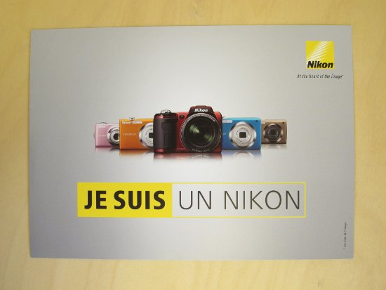 "Update: The last card from France of course says ""I am Nikon"". It"
