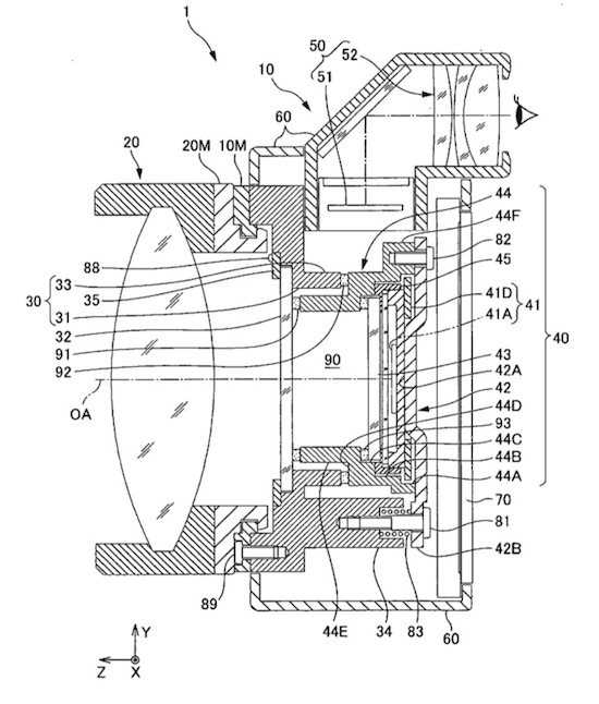 one of the many Nikon patents for a mirrorless camera