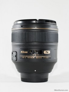 Nikon AF-S 85mm f/1.4G without hood
