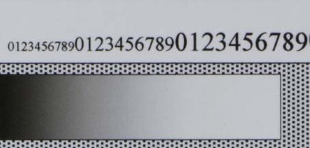 Nikon AF-S 85mm f/1.4G test chart @ f/11