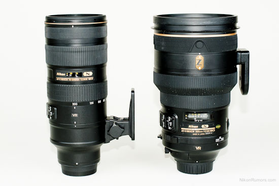 Nikkor 200 f/2 VRII compared to 70-200 f/2.8 VRII