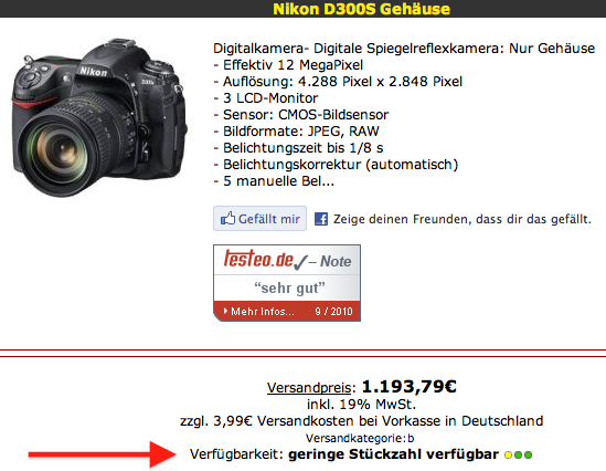 Nikon D300s slowly phasing out - Nikon Rumors