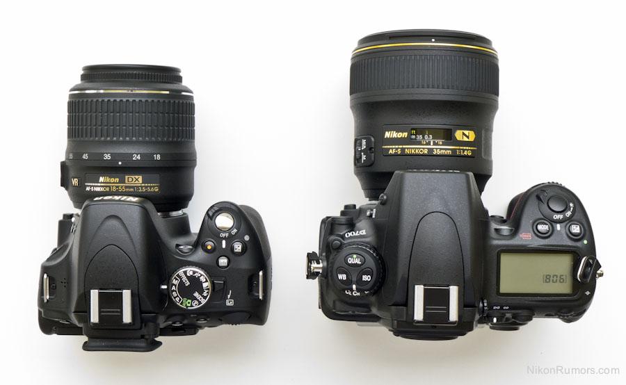 nikon d5100 vs d700 size comparison nikon rumors rh nikonrumors com Nikon D3400 Nikon Lenses