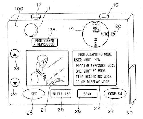 Nikon issued with a patent for electronic camera
