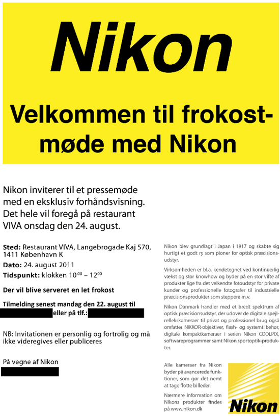 Nikon denmark press invitation nikon rumors this stopboris Images