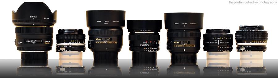 NR50mmLensReviewWLogo Seven 50mm prime lenses for Nikon F mount compared by Cary Jordan