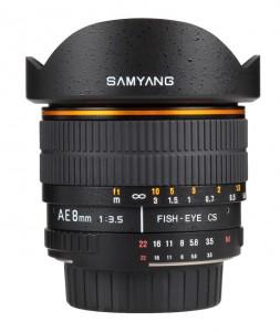 Samyang AE 8mm Nikon images 2 253x300 New Samyang 8mm f/3.5 fisheye lens for Nikon mount