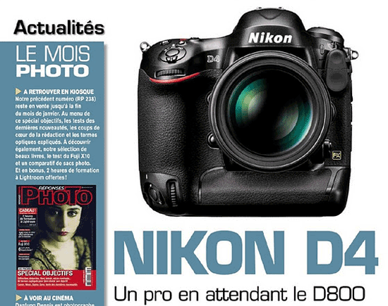 Nikon D4 leaked in French magazine - Nikon Rumors