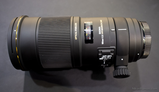 Sigma APO Macro 180mm F2.8 EX DG OS HSM lens with 1:1 magnification