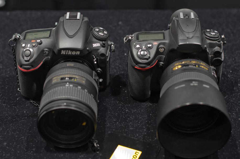 Nikon D800E compared to the Nikon D700