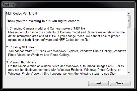 Nikon NEF Codec v1.13.0