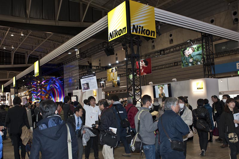 Nikon booth 2012 CP+show Japan4 Nikon booth at CP+ show in Japan