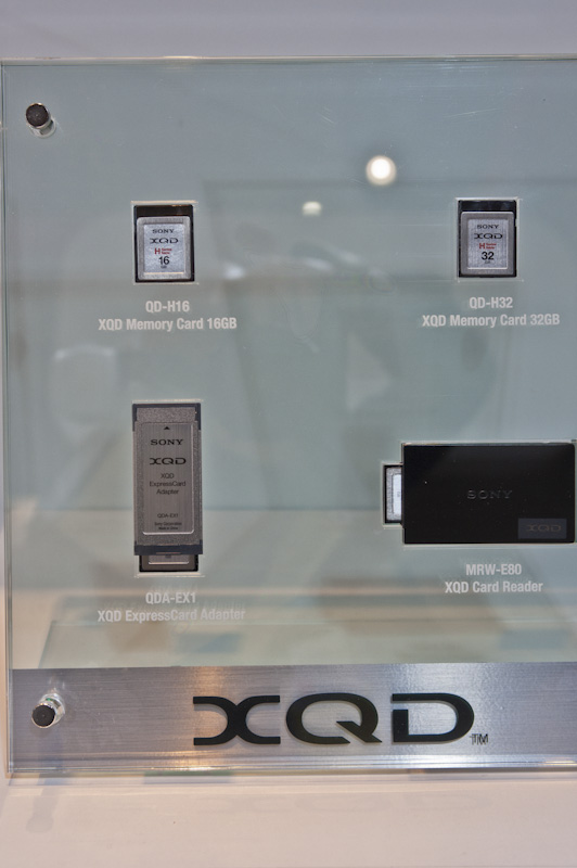 Sony XQD card CP+show Nikon booth at CP+ show in Japan