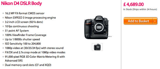 Nikon D4 and D800 price increases coming to more countries? - Nikon ...
