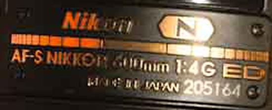 Is this the stolen Nikon AF-S 600mm f/4G ED VR lens? - Nikon Rumors
