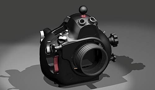 Hugyfot underwater housing prototype for Nikon D800