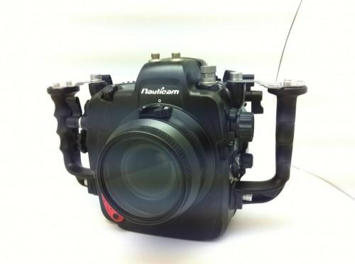 Nauticam underwater housing prototype for Nikon D4