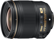 Nikkor 28mm f1.8G full frame lens Nikon 28mm f/1.8G lens now shipping