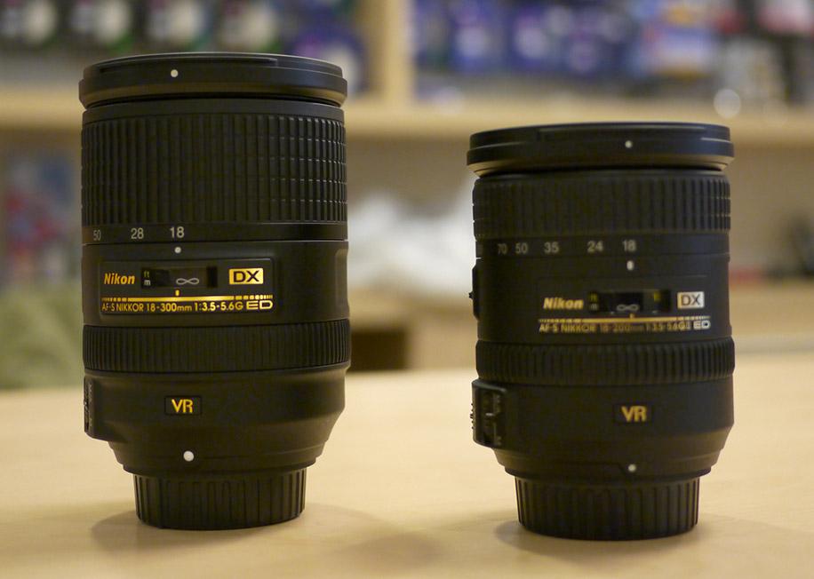 nikon mm and dx lenses size comparisonaspx