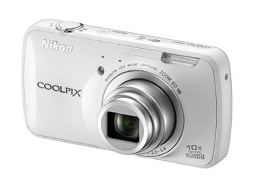 Nikon Coolpix 800c camera in white