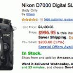 Nikon D70000 price drop