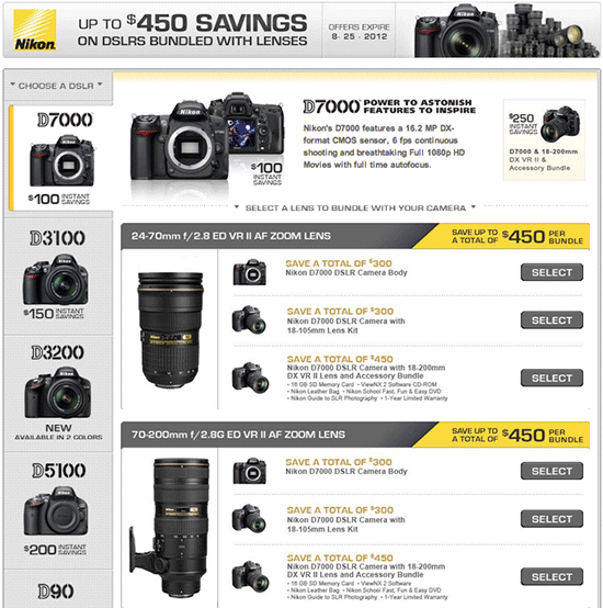 Nikon instant rebates August The current Nikon US instant rebate program will expire on August 25th