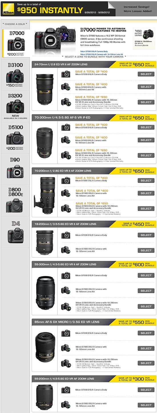 Nikon D7000, V1 price drops   Nikon Rumors