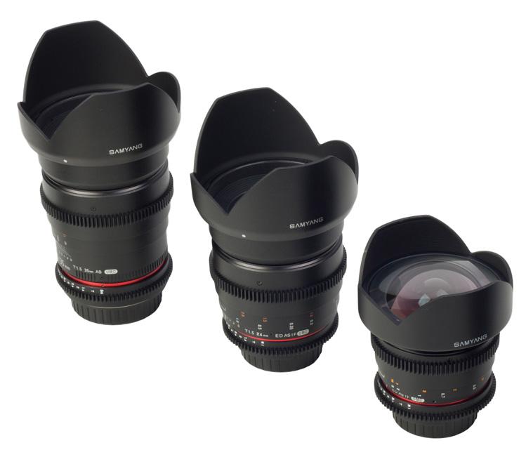 Samyang VDSLR lenses