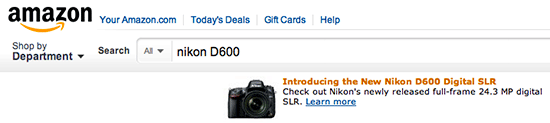 Nikon D600 on Amazon Nikon D600 shows up on Amazon search