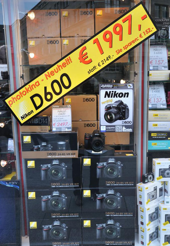 Nikon D600 price drop Germany Nikon D600 price drop in the UK, Germany