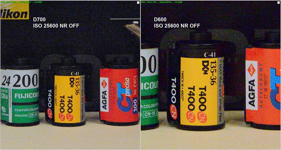 Nikon D600 vs D700 25600 NR OFF Nikon D600 now shipping