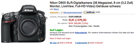 Nikon D800 price drop Germany Nikon D600 price drop in the UK, Germany