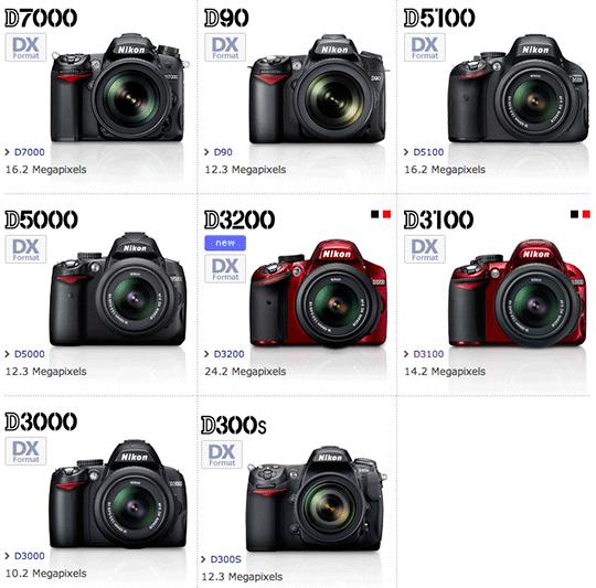 Nikon DX format DSLR cameras