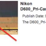 Nikon D600 sensor made by Sony