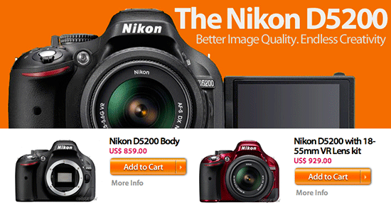 How to get the Nikon D5200 in the US for Christmas