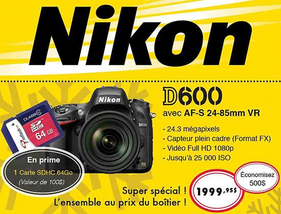 Nikon-D600-savings-Canada