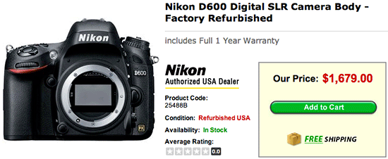 Refurbished-Nikon-D600-camera