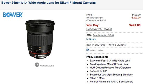 Bower-24mm-f1.4-lens-discount