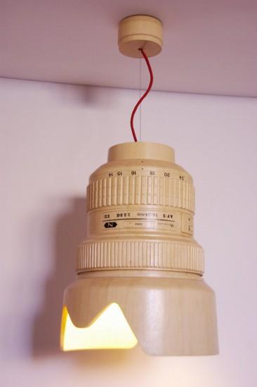 Giant wooden Nikkor lens lamp (2)