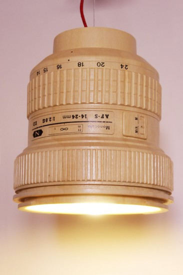 Giant wooden Nikkor lens lamp (3)