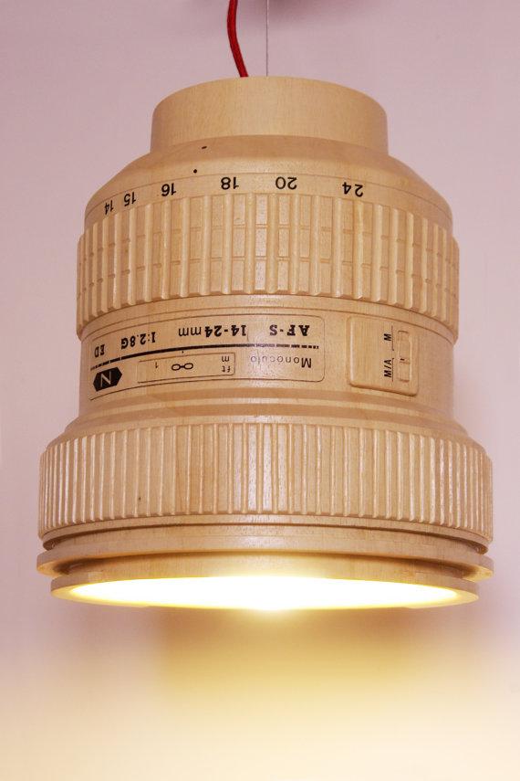Giant Wooden Nikkor Lens Pendant Lamp Nikon Rumors