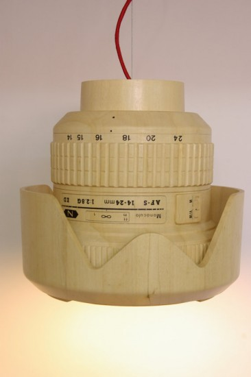 Giant wooden Nikkor lens lamp (4)