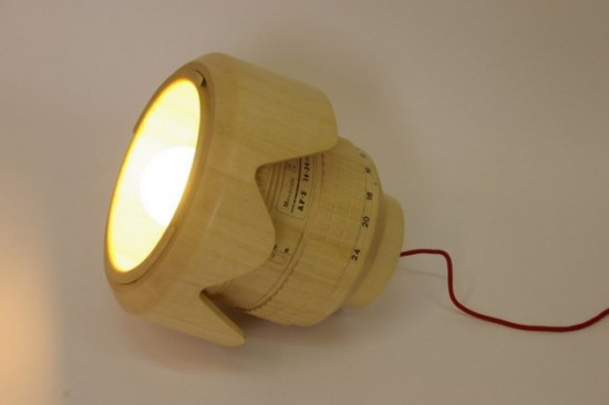 Giant wooden Nikkor lens lamp (5)