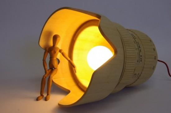 Giant wooden Nikkor lens lamp (6)