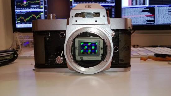 Nikon Nikkormat with Sony NEX-5N digital guts